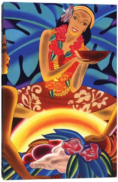 Hawaiian Luau, c1940s Canvas Art Print