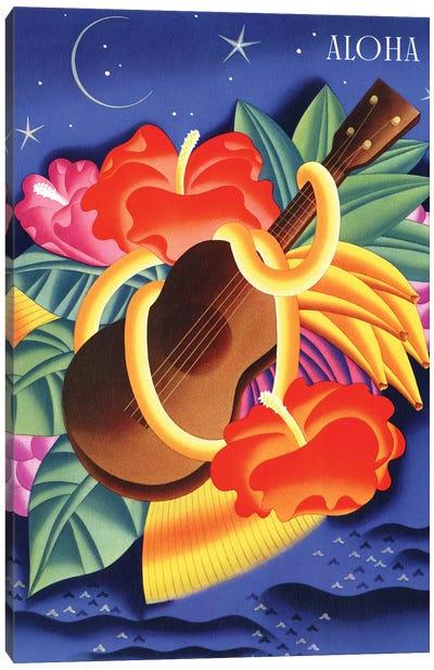 Aloha, c1940s Hawaii Canvas Art Print
