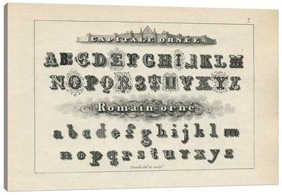 Alphabet Capitale Ornee, Plate 7 Canvas Art Print