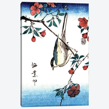 Japanese Bird 1800s Canvas Print #PDX82} by Piddix Canvas Wall Art