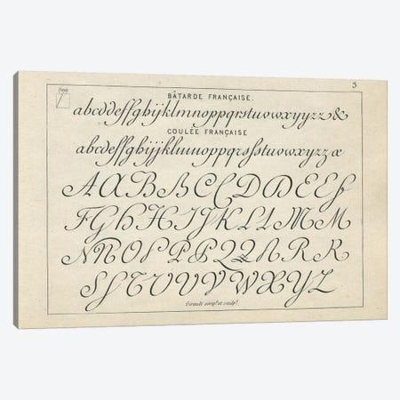 Alphabet Francaise, Plate 3 Canvas Print #PDX8} by Piddix Canvas Art Print
