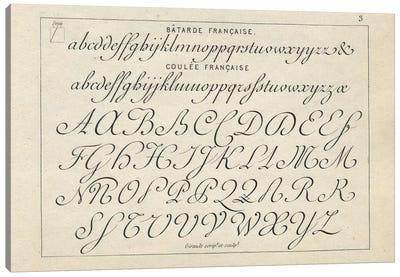 Alphabet Francaise, Plate 3 Canvas Art Print