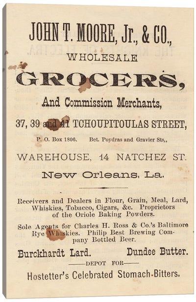 New Orleans Vintage Advertisements Canvas Art Print