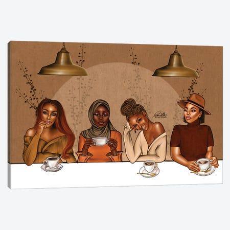 Coffee Time Canvas Print #PEA10} by Peniel Enchill Art Print