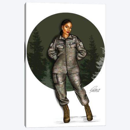 Army Green Canvas Print #PEA19} by Peniel Enchill Canvas Art Print