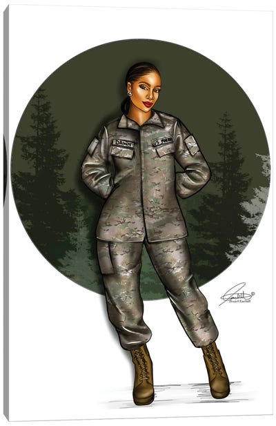 Army Green Canvas Art Print