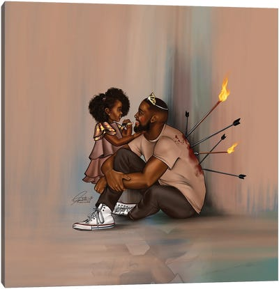 Black Fatherhood Canvas Art Print