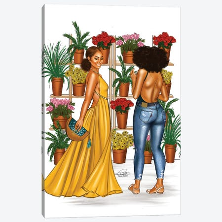 Plant Girls Canvas Print #PEA32} by Peniel Enchill Canvas Art Print