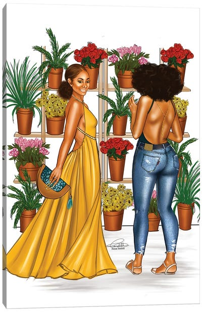 Plant Girls Canvas Art Print