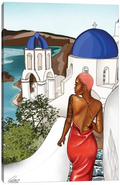 Wildn' Santorini Canvas Art Print