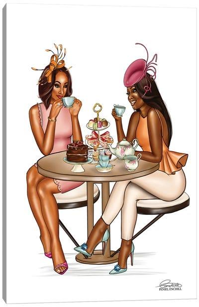 High Tea Conversations Canvas Art Print