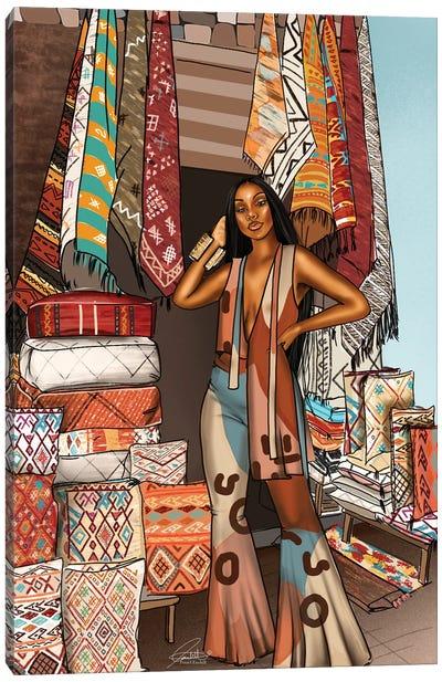 Printed In Marrakech Canvas Art Print