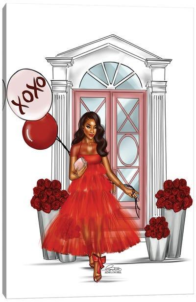 Crimson Tulle Canvas Art Print
