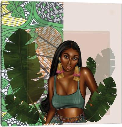 Leafy Green Canvas Art Print