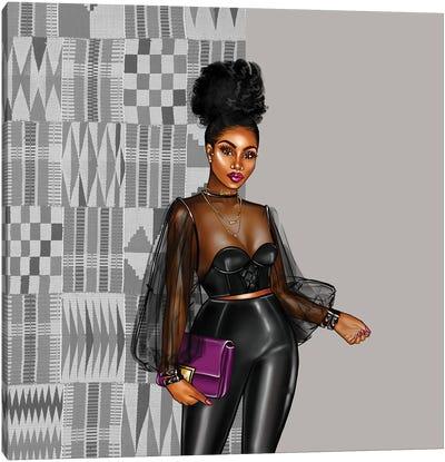 Kente Black Canvas Art Print
