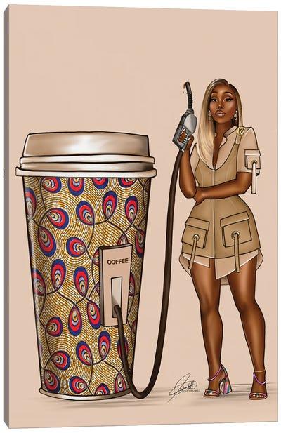 Ankara Coffee Fuel Canvas Art Print