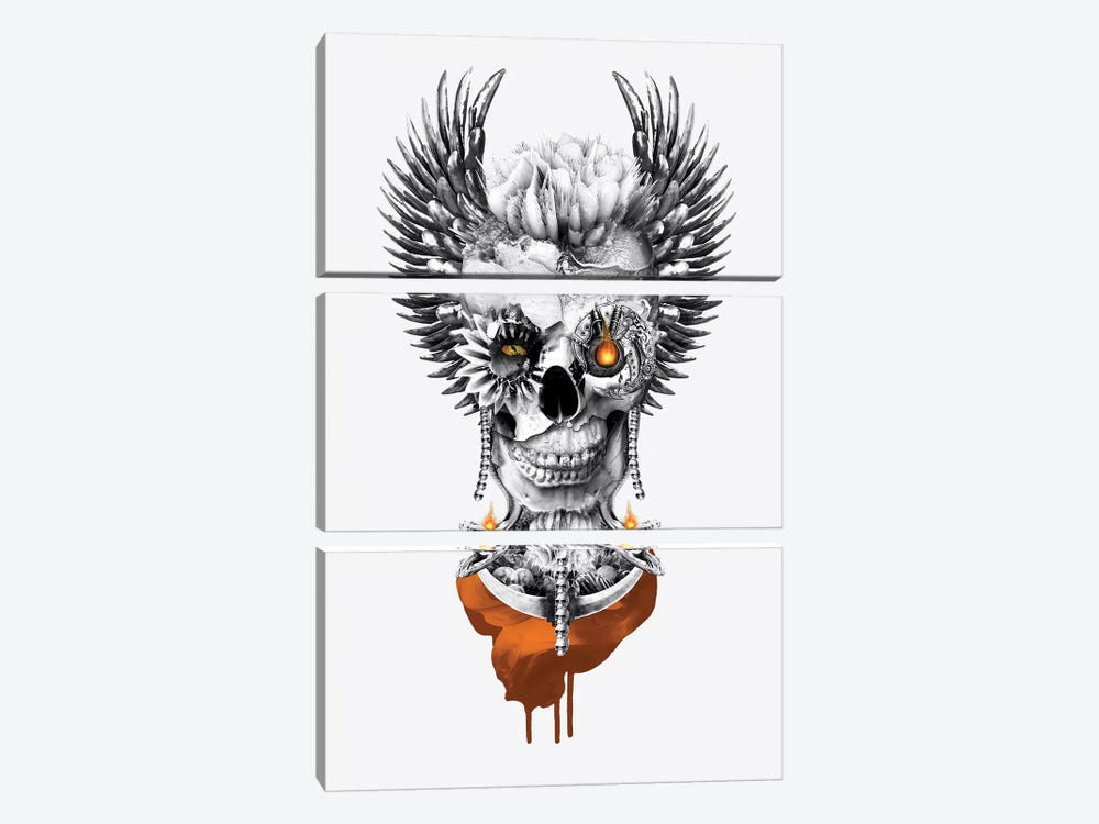 Skull Lord II by Riza Peker 3-piece Canvas Art