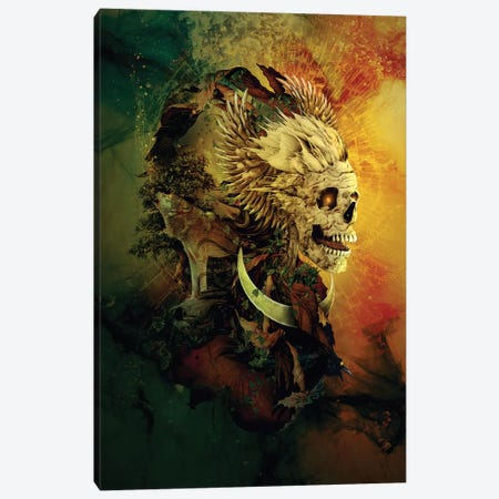 Skull Lord III Canvas Print #PEK103} by Riza Peker Canvas Art