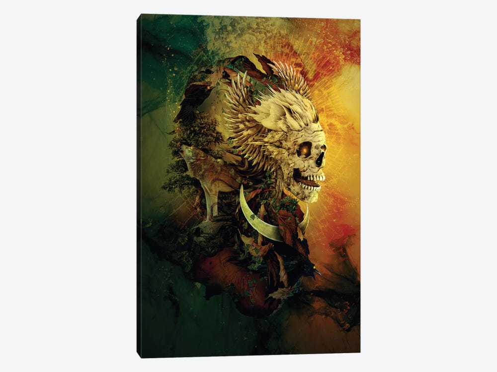 Skull Lord III by Riza Peker 1-piece Canvas Print