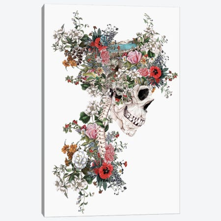 Skull Queen Canvas Print #PEK104} by Riza Peker Canvas Print