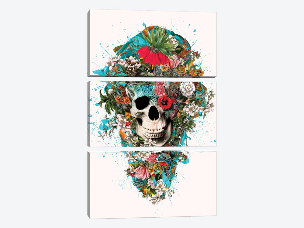 Summer Skull V by Riza Peker 3-piece Art Print