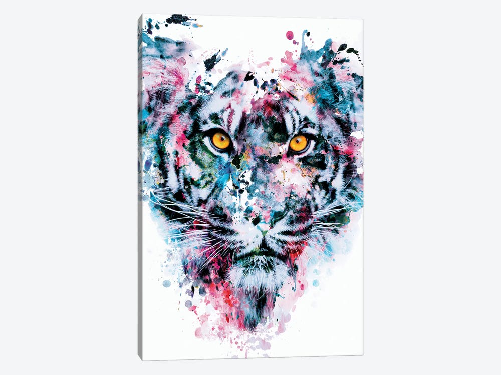 Tiger Blue by Riza Peker 1-piece Canvas Art Print