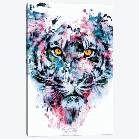 Tiger Blue Canvas Print #PEK107} by Riza Peker Canvas Print