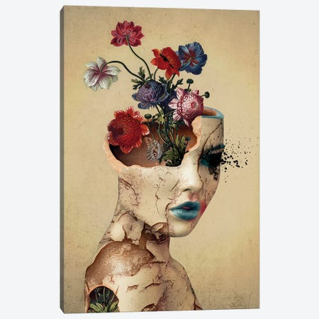 Broken Beauty Canvas Print #PEK110} by Riza Peker Canvas Art Print