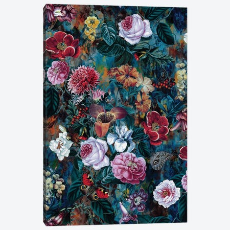Dance Of Flowers Canvas Print #PEK111} by Riza Peker Canvas Print