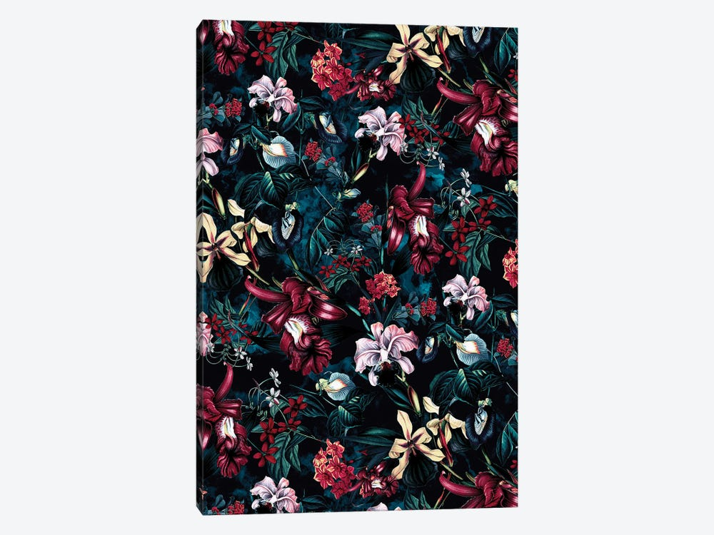 Floral Night 1-piece Canvas Wall Art