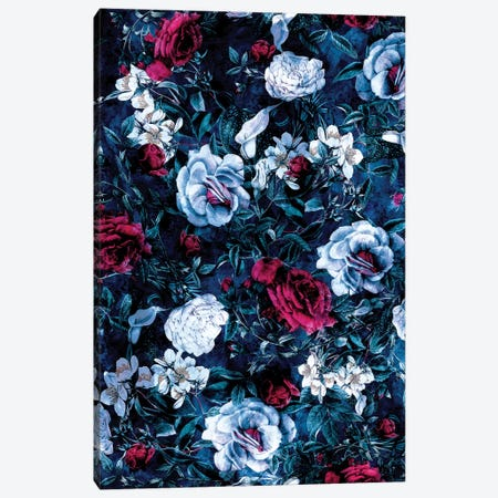 Night Garden Blue Canvas Print #PEK117} by Riza Peker Canvas Wall Art