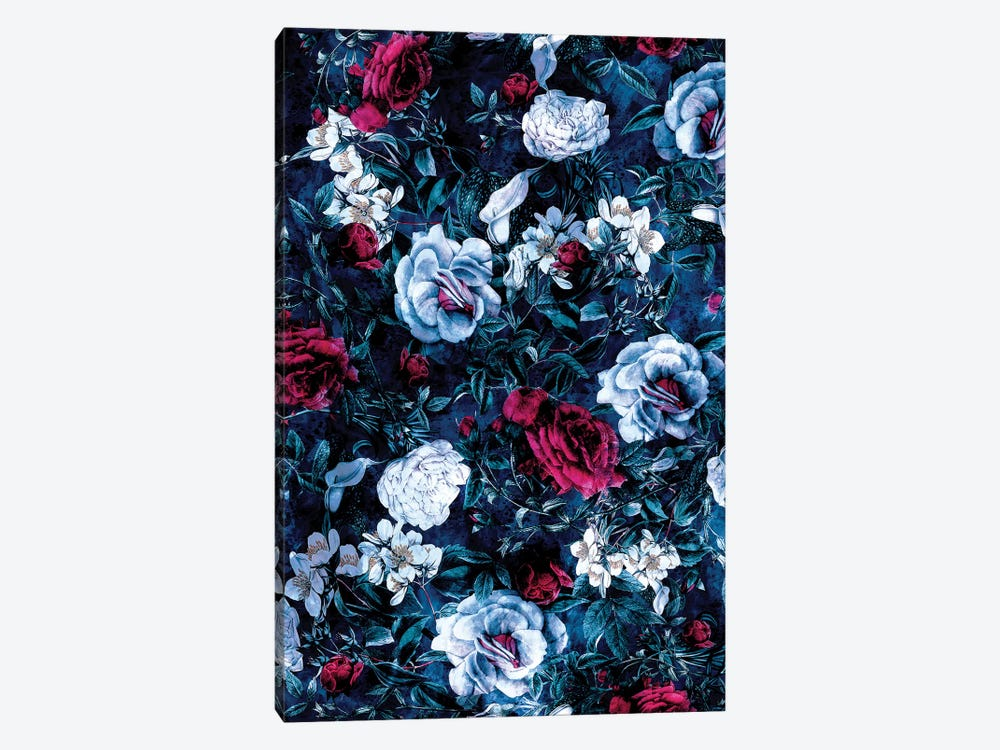 Night Garden Blue 1-piece Canvas Artwork