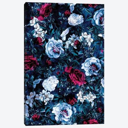 Night Garden Blue 3-Piece Canvas #PEK117} by Riza Peker Canvas Wall Art