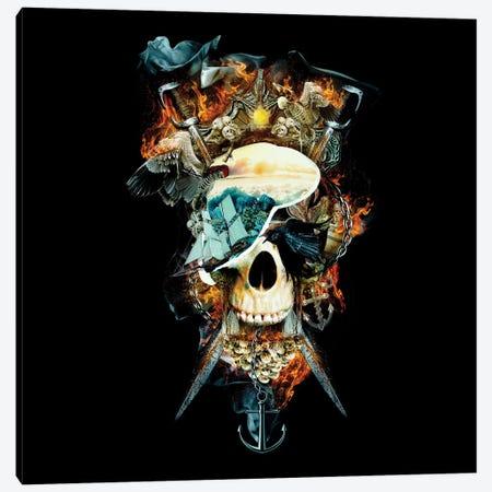 Pirate Skull I Canvas Print #PEK120} by Riza Peker Canvas Artwork