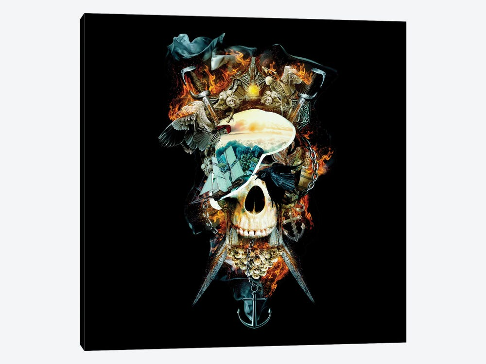 Pirate Skull I 1-piece Canvas Wall Art