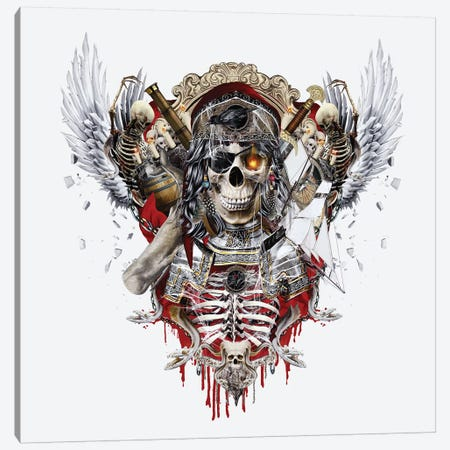 Pirate Skull II Canvas Print #PEK121} by Riza Peker Canvas Wall Art