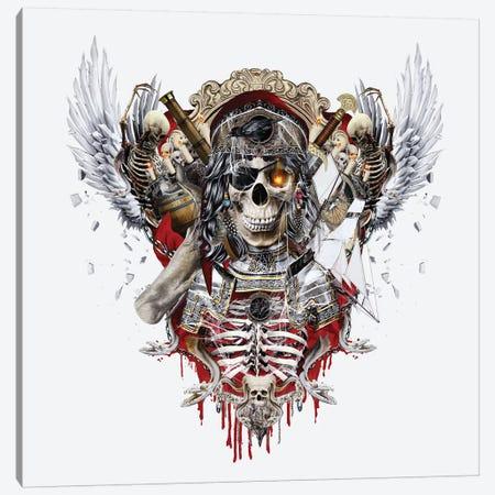Pirate Skull II Canvas Print #PEK121} by Riza Peker Canvas Wall Art