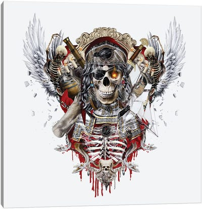 Pirate Skull II Canvas Art Print