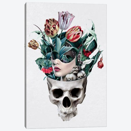 Skull Girl Canvas Print #PEK127} by Riza Peker Canvas Art Print
