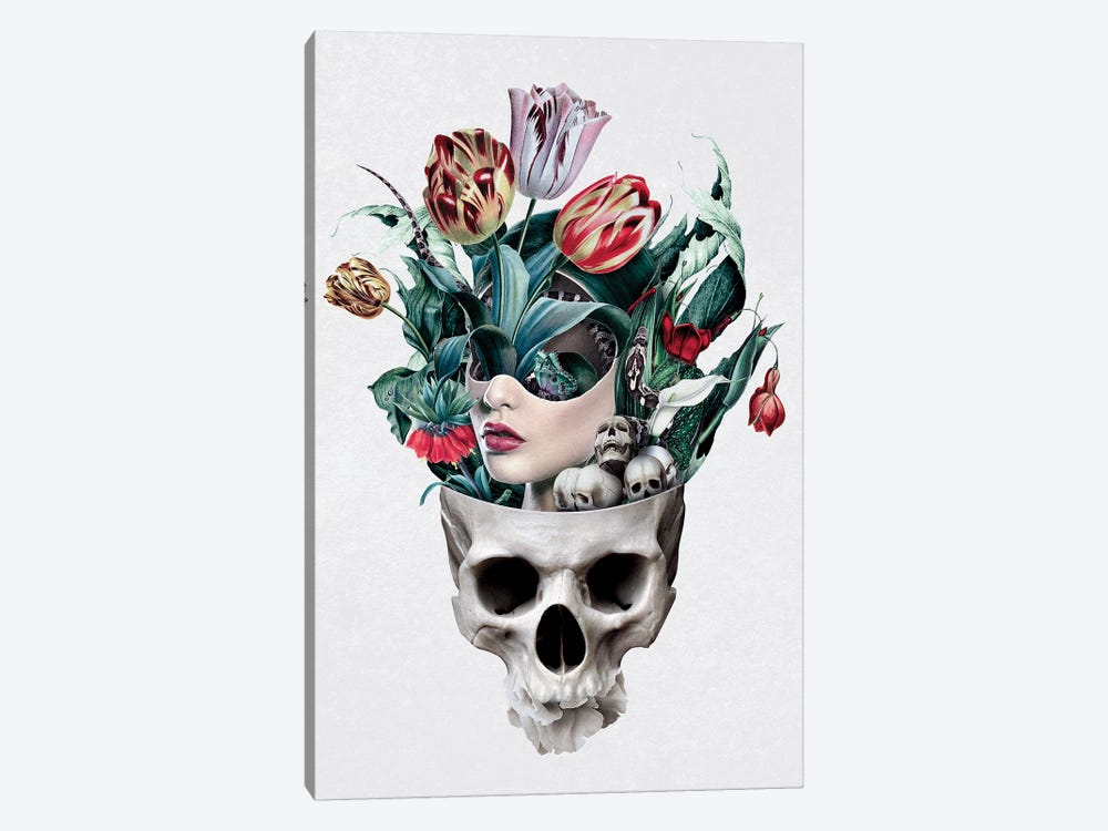 Skull Girl 1-piece Canvas Print