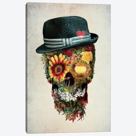 Skull Lover Canvas Print #PEK128} by Riza Peker Canvas Artwork