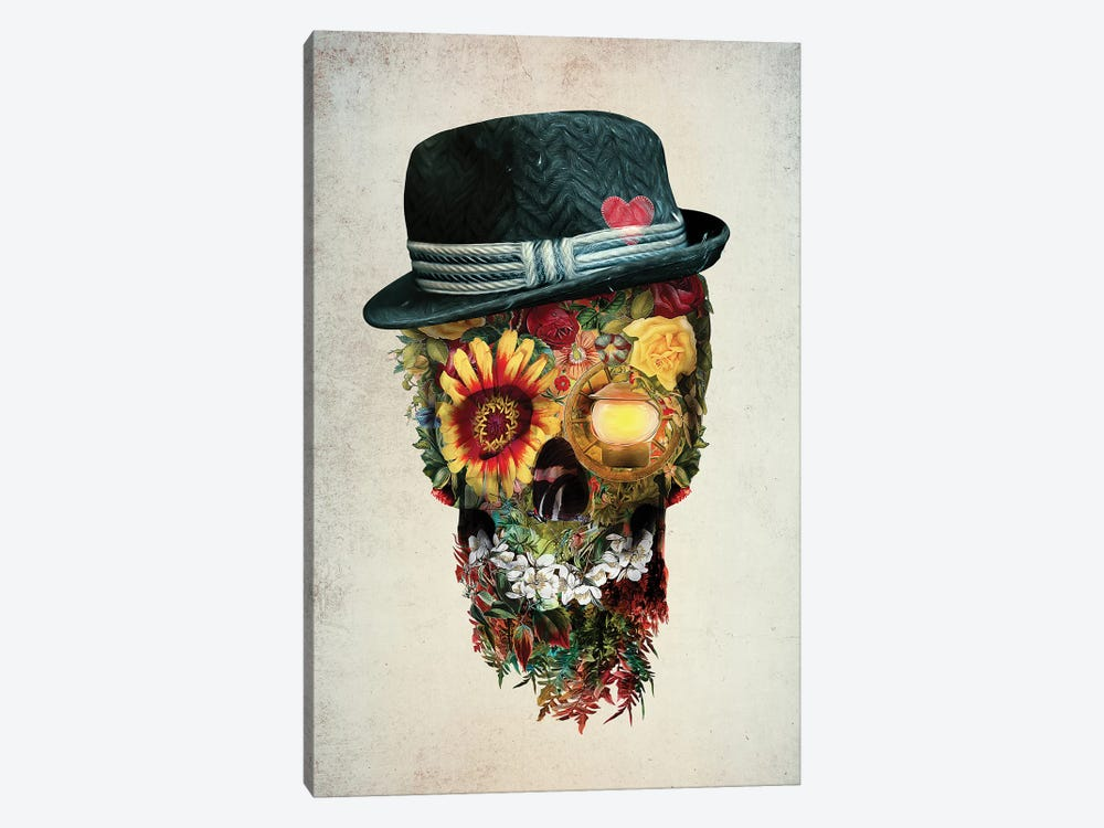 Skull Lover by Riza Peker 1-piece Canvas Art