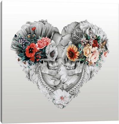 Floral Skull Series: Forever Love II Canvas Print #PEK12