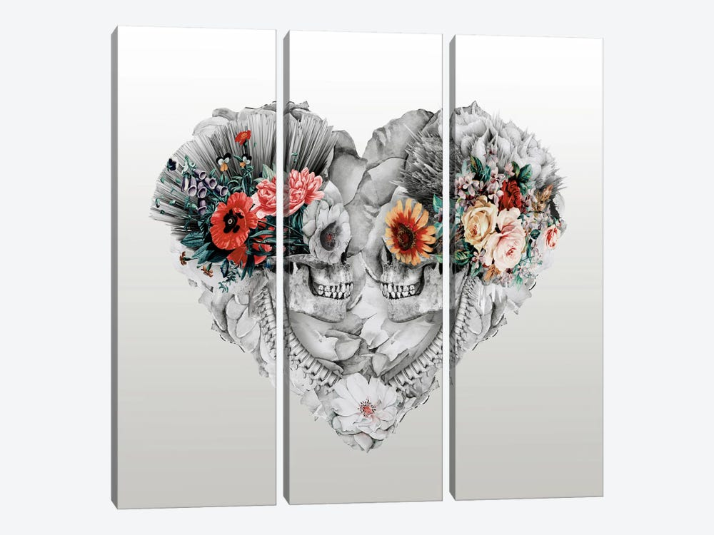 Forever Love II by Riza Peker 3-piece Canvas Wall Art