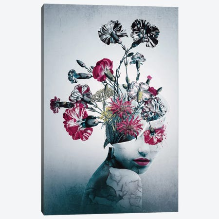 Spirit Of Flowers 3-Piece Canvas #PEK131} by Riza Peker Canvas Art Print