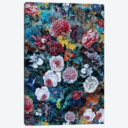 Still Life Of Flowers Canvas Print #PEK132} by Riza Peker Canvas Art Print