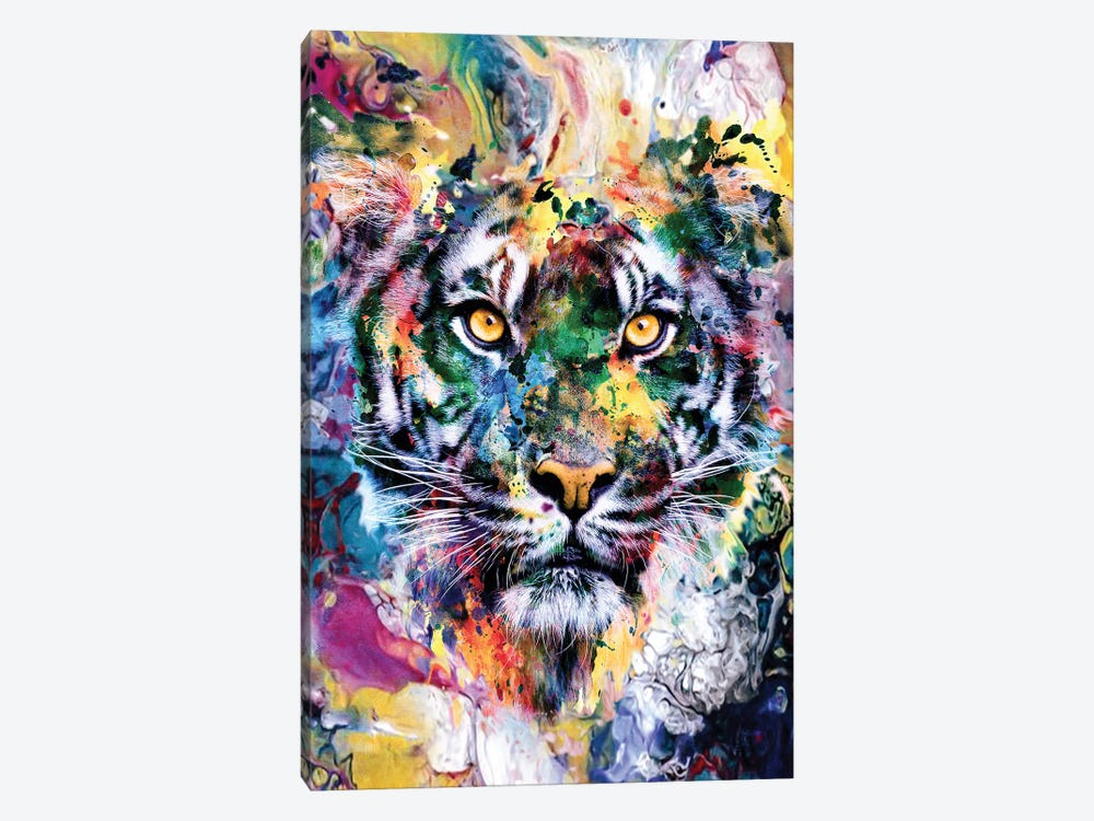 Tiger VII by Riza Peker 1-piece Canvas Artwork