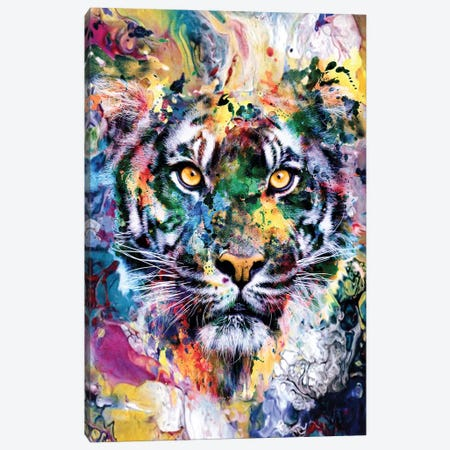 Tiger VII Canvas Print #PEK135} by Riza Peker Canvas Artwork