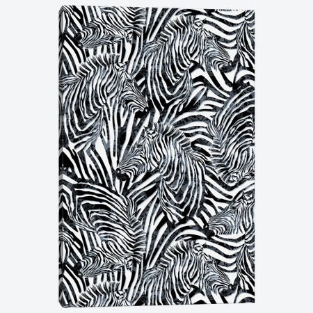 Zebra Pattern Canvas Print #PEK141} by Riza Peker Canvas Wall Art