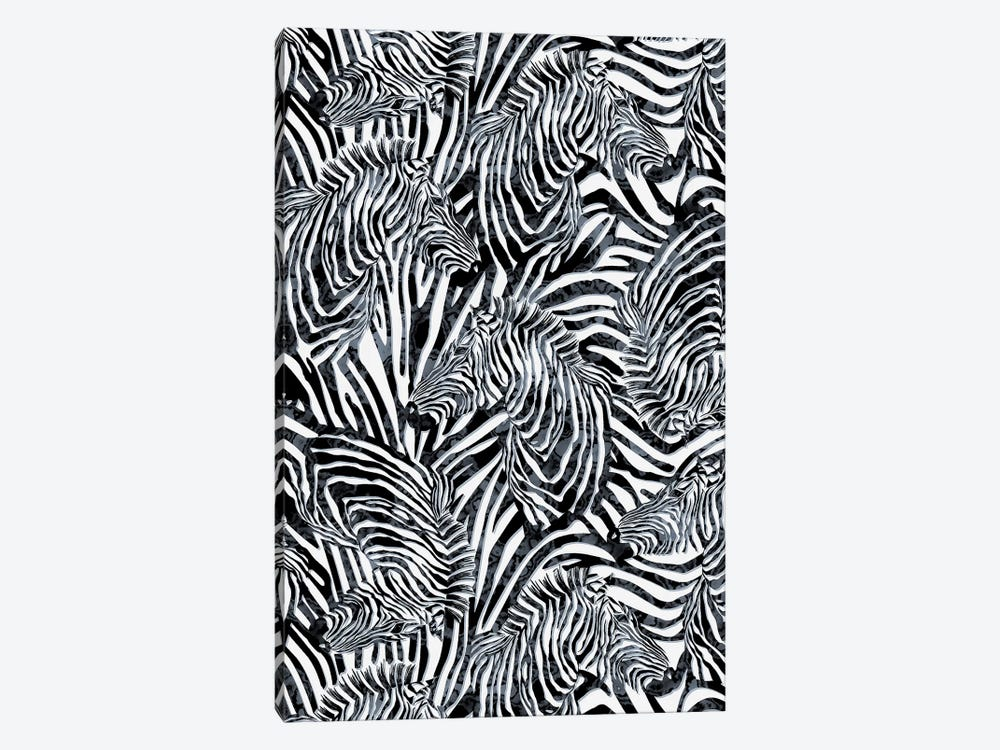 Zebra Pattern by Riza Peker 1-piece Canvas Art Print